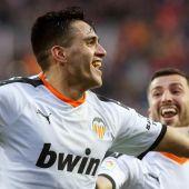 El delantero del Valencia, Maxi Gómez.