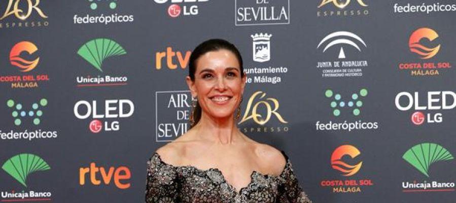 La presentadora Raquel Sánchez Silva, a su llegada los Goya.