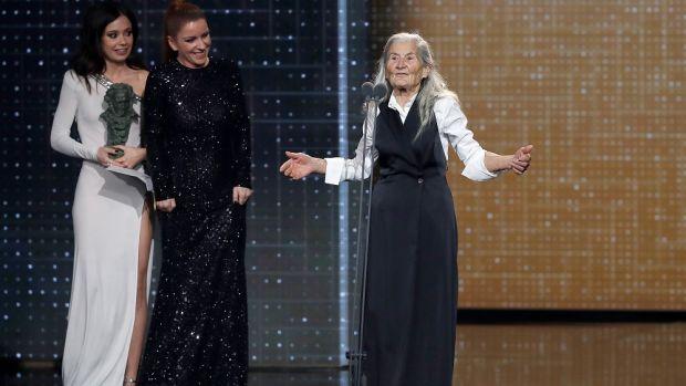 """Benedicta Sánchez: """"Ni hace un año ni un ahora pensaría que iba a estar aquí ganando un Goya"""""""