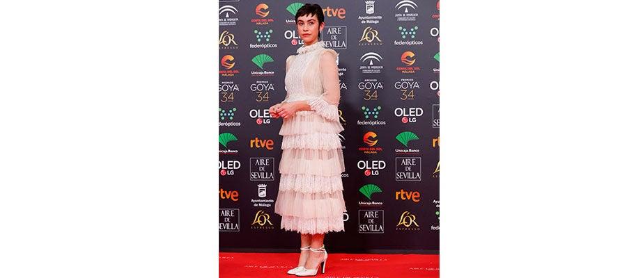 Greta Fernández en la gala de Goya 2020