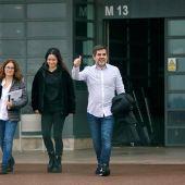 Jordi Sánchez sale de la prisión catalana.