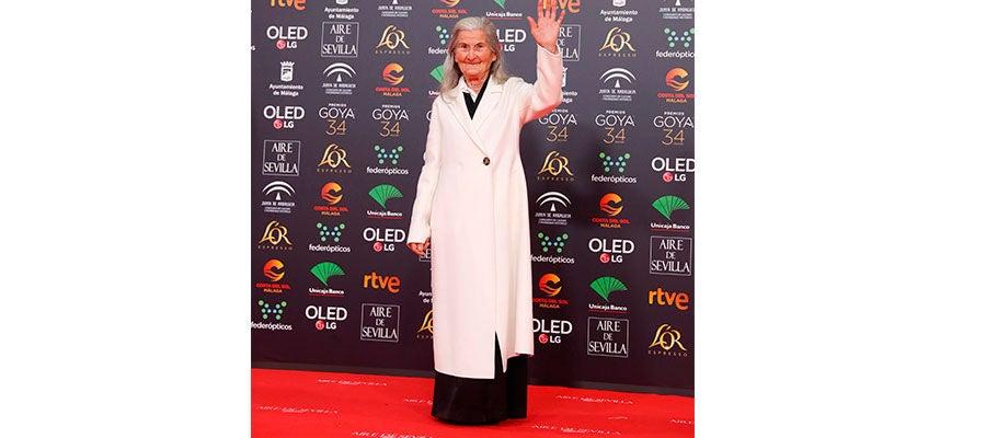 Benedicta Sánchez en la gala de los Goya 2020