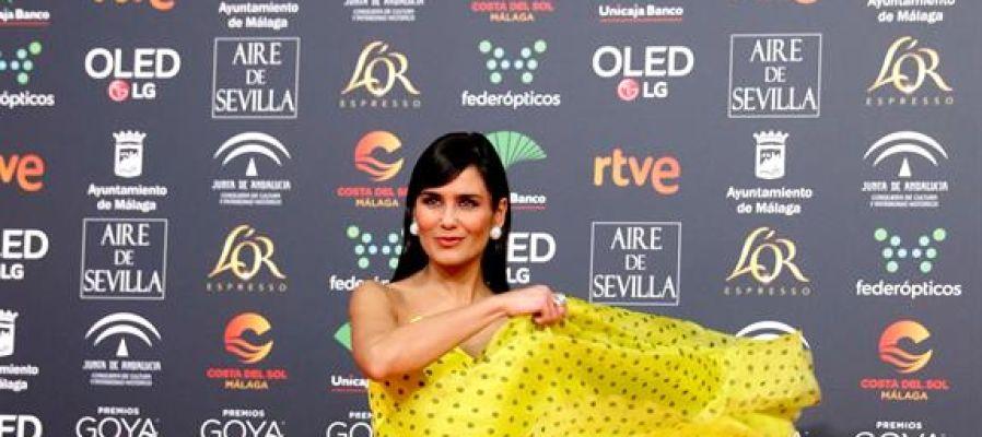 La actriz Laura Sánchez, en los Premios Goya 2020.