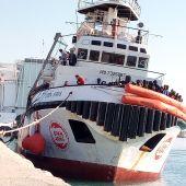 El Open Arms desembarcando en Sicilia