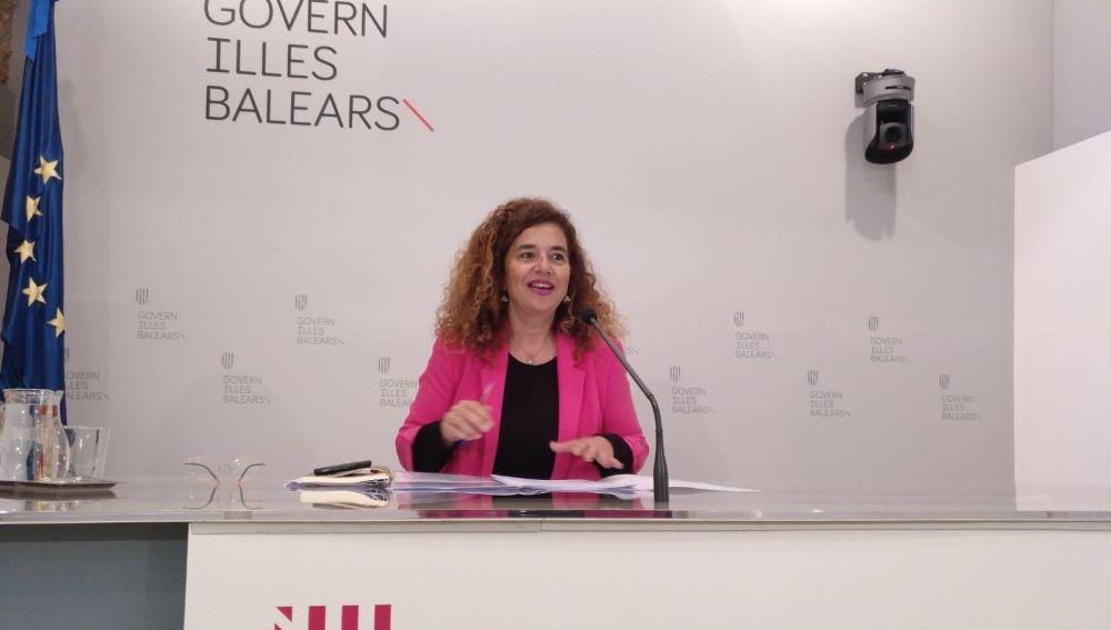 La Portavoz del Govern, Pilar Costa, en la rueda de prensa del Consell de Govern.