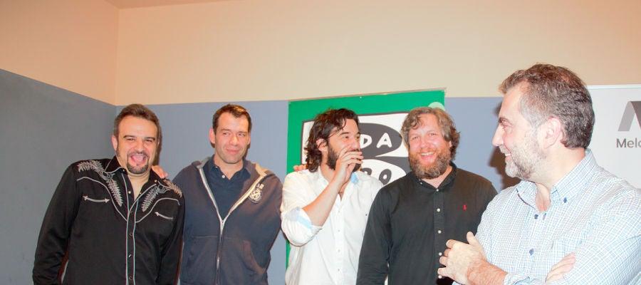 Componentes de La Cultureta en sus inicios. De izquierda a derecha: JF León, Rubén Amón, Manuel Jabois, David Gistau y Carlos Alsina