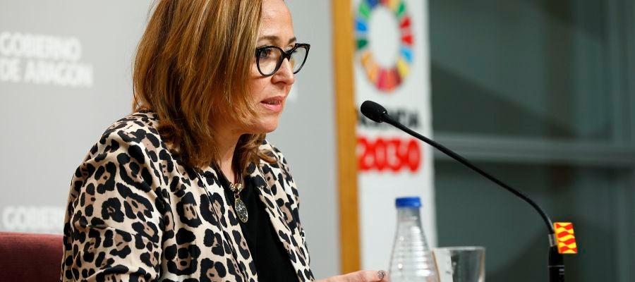 La portavoz, Mayte Pérez, tras el Consejo de Gobierno