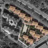 Plano de situación de las viviendas en las que se va a actuar en Santa Pola.