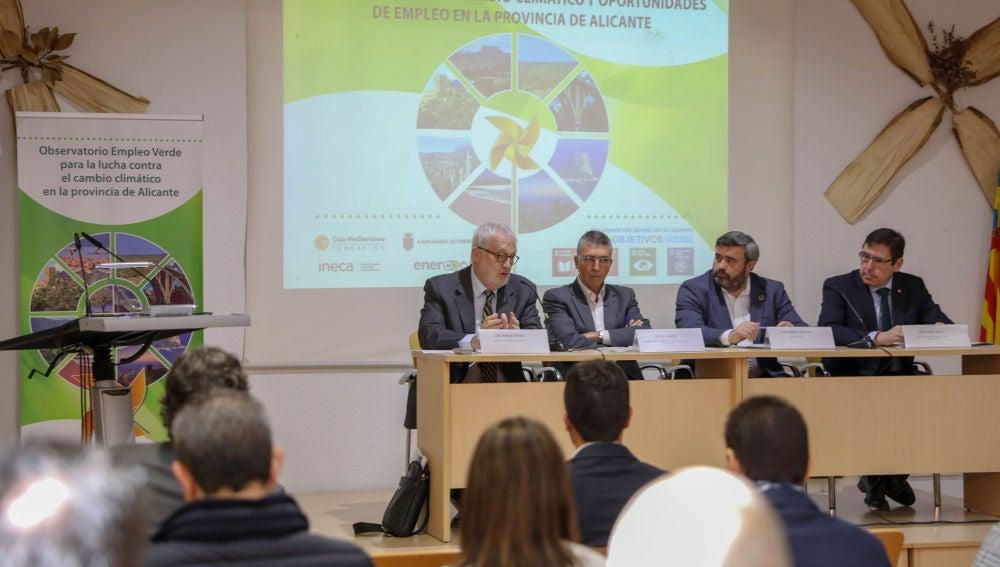 Presentación del 'Diagnóstico del cambio climático y oportunidades de empleo en la provincia de Alicante'.
