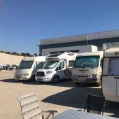 Autocaravanas en el aparcamiento de IFA.