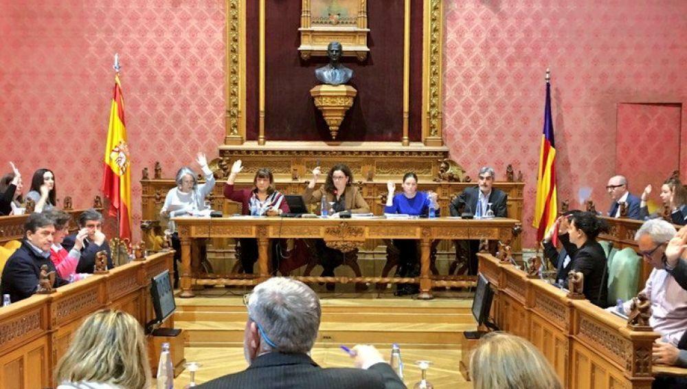 La Presidenta del Consell de Mallorca, Catalina Cladera, en el pleno de la institución.