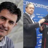 Míchel, Tino Fernández y Martí