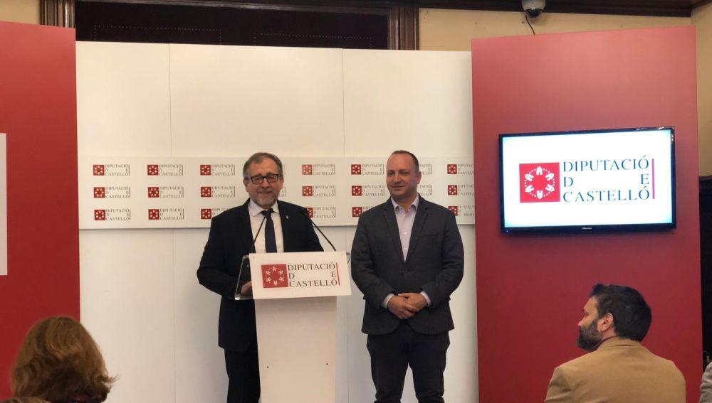 El presidente de la Diputación, José Martí, se reúne con el vicepresidente de la Generalitat, Rubén Martínez Dalmau.