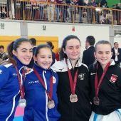 Las karatekas del Club Do Shotokan Chazarra estuvieron a gran nivel en la II Jornada de la Liga Autonómica de kárate.