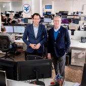 Eugenio Calabuig, presidente de Global Omnium, y Jaime Barba CEO de Idrica