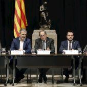 El presidente de la Generalitat, Quim Torra, en la reunión