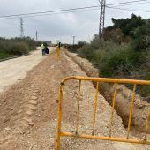 Obras en el barrio La Estación de Crevillent.