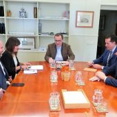 Reunión del alcalde de Elda en el Ministerio de Transportes.