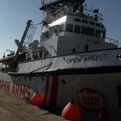 El Open Arms en el Puerto de Burriana