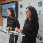 Nieves Peinado y Lidia Ruiz durante la rueda de prensa