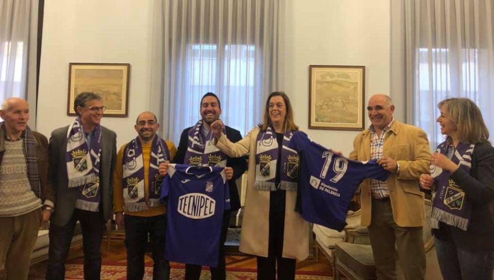 La Diputación de Palencia recibe al C.D Becerril