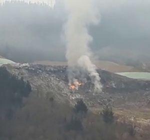 Vuelve a incendiarse el vertedero de Zaldibar tras reavivarse un foco