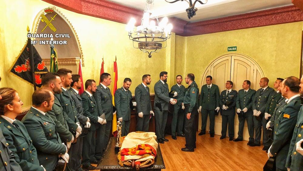 El jefe de la Comandancia ha dado la bienvenida a los 38 agentes incorporados en Ciudad Real