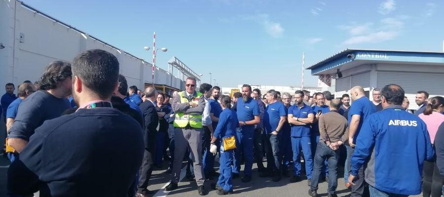 Protestas en las factorías de Airbus en Sevilla