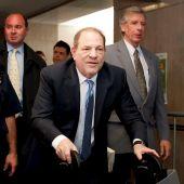 Harvey Weinstein a su llegada al juzgado