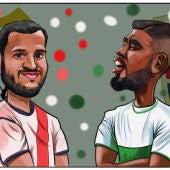 Yacine Qasmi contra Jonathas de Jesus, duelo de goleadores en Vallecas.
