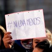 Imagen de una concentración contra la violencia machista