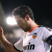 Dani Parejo, durante un partido del Valencia