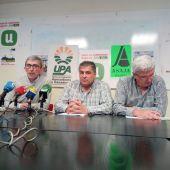 organizaciones agrarias de Segovia ASAJA, UPA y UCCL