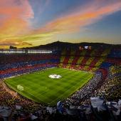 El Camp Nou en un encuentro de la Champions League