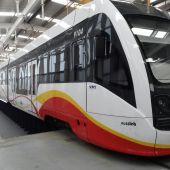 Un tren de SFM, en la estación de Palma.