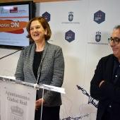 Rosario Perez y Pedro Maroto durante la rueda de prensa