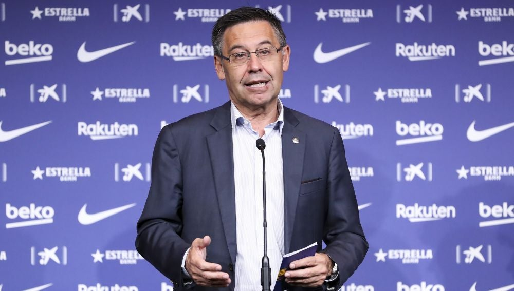 Josep Maria Bartomeu durante una rueda de prensa