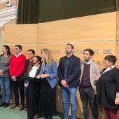 Comparecencia de la alcaldesa, Amparo Marco, ante los medios de comunicación.