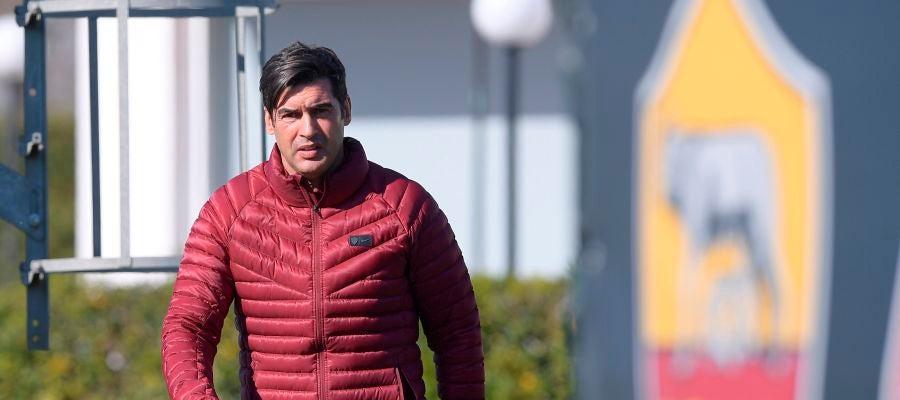 El técnico portugués del Roma, Paulo Fonseca
