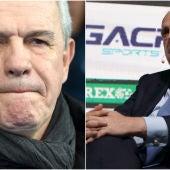 Javier Aguirre y Javier Tebas
