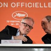 Thierry Fremaux y Pierre Lescure, delegado general y presidente del Festival de Cannes
