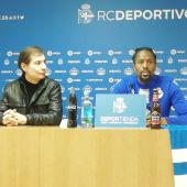 Ríchard Barral y Abdoulaye Ba