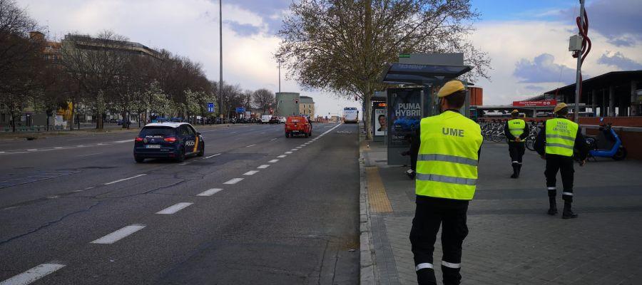 Despligue de la UME en Madrid. (2)