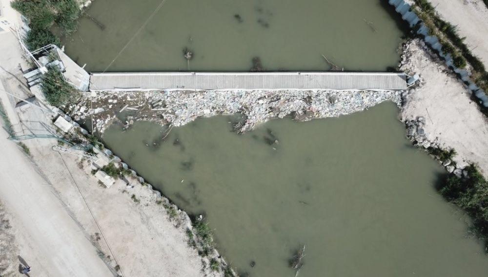 Imagen captada por el dron usado por los investigadores.