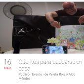 Aldo Méndez narra cuentos en la red durante el estado de alarma