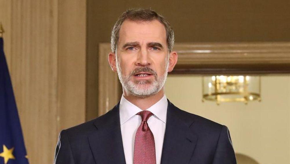 El Rey Felipe VI se dirige a los ciudadanos.