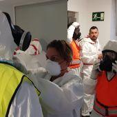 La unidad de desinfección del Ejercito de Tierra realiza en Palma tareas de desinfección