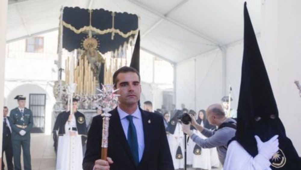 El alcalde de Almería, Ramón Fernández-Pacheco, en la procesión de la Hermandad de la Estrella