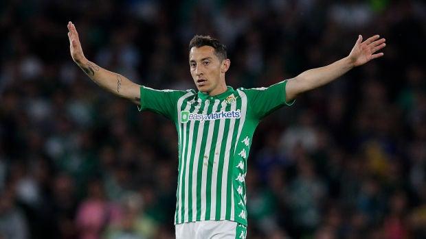 Andrés Guardado, con el Betis