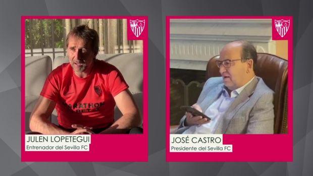 José Castro, presidente del Sevilla, conversó por teléfono con Lopetegui